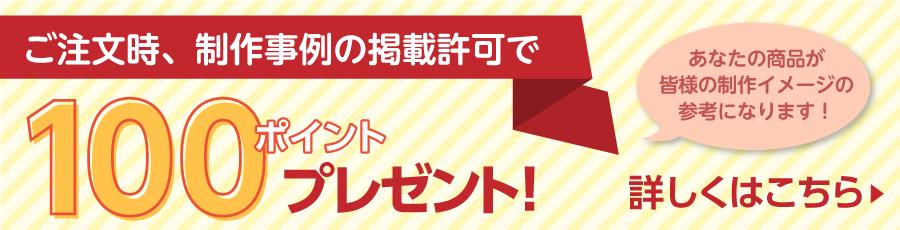 制作事例の掲載許可で100ポイントプレゼント!